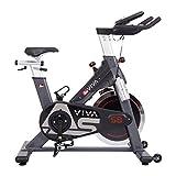 AsVIVA Indoor Cycle S8 Pro, Speed-Bike mit Bluetooth App Kontrolle, Fitnessbike,...
