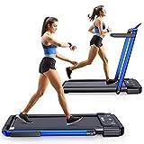 Googo 2 in 1 Folding Treadmill,2.25HP Electric Under Desk Treadmills Walking...