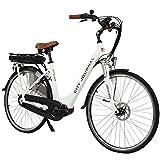 AsVIVA E-Bike Damen Hollandrad 28', Tiefeinsteiger (13Ah Akku), 7 Gang Shimano...
